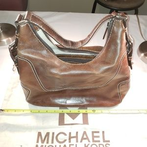 Vintage Michael Kors Women's Brown Leather Bag